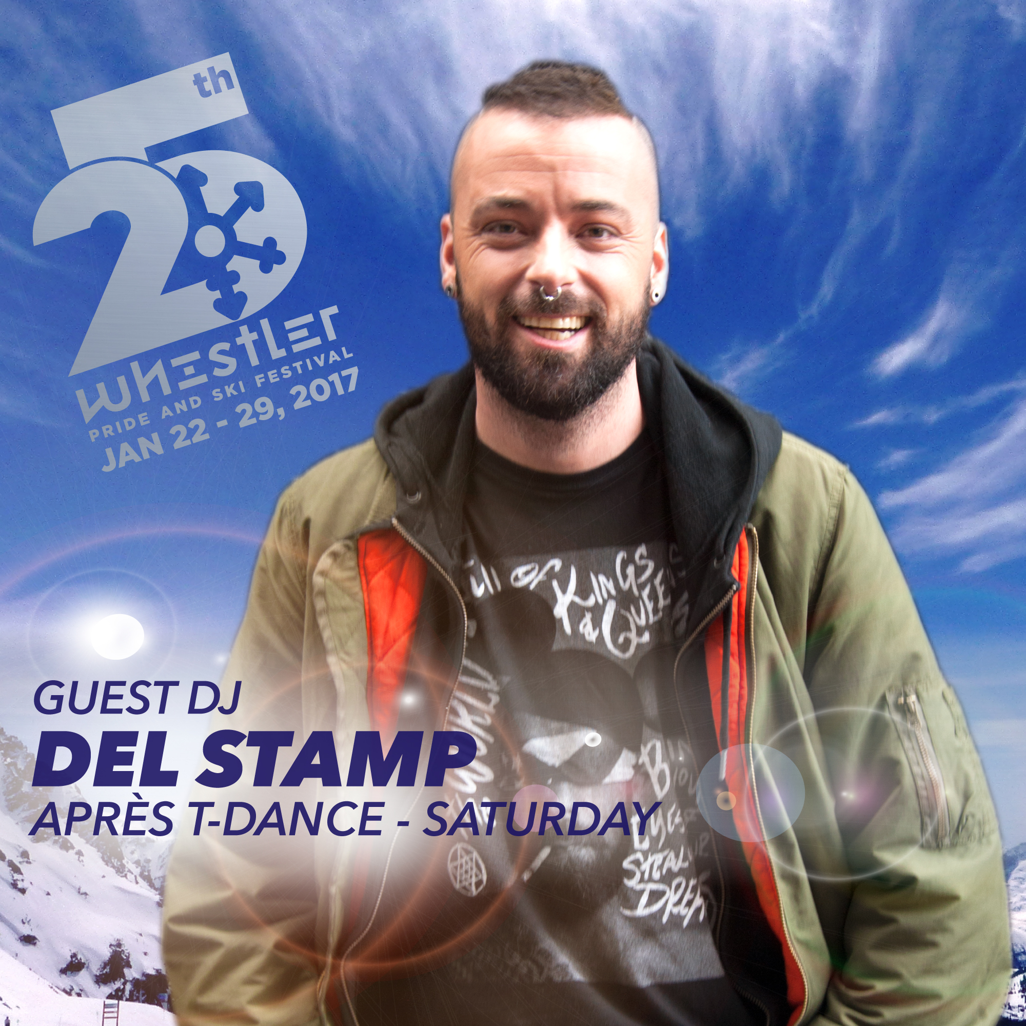 DJ Del Stamp returns to Whistler Pride Après Ski on Sat., Jan. 28th presented by TD Bank Group