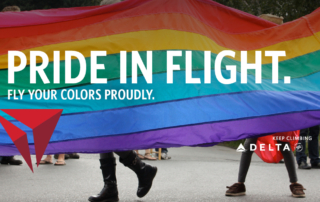Delta Airlines the official airline of Whistler Pride and Ski Festival