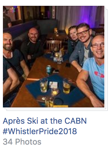 Apres Ski Photos at Whistler Pride 2018
