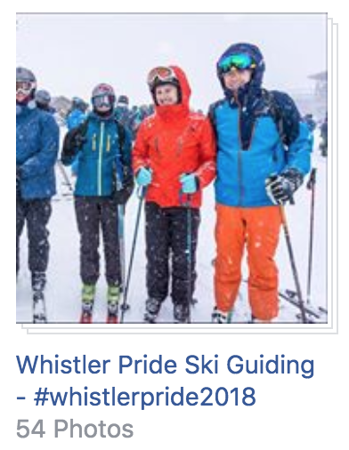 Ski Guide Photos at Whistler Pride 2018