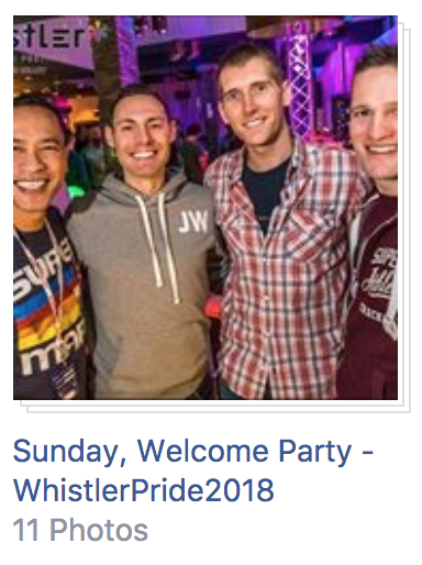Sun Welcome Party Whistler Pride 2018 Photos