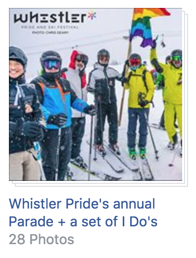 Whistler Pride Parade at the Whistler Pride 2018 Festival