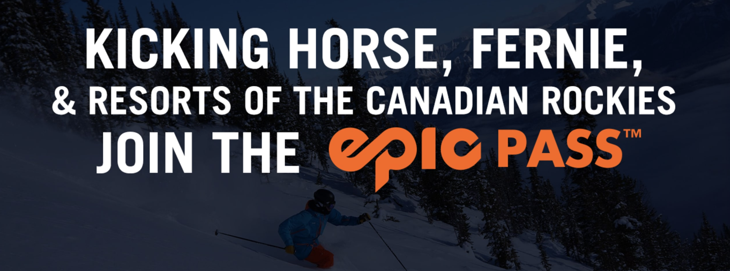 Epic Pass now includes Canadian Rocky Mtn Resorts