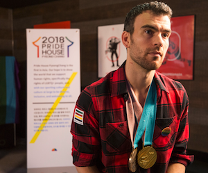 Gold and Bronze Olympian Eric Radford at the 2018 Pyeong Chang Olympic Winter Games Pride House