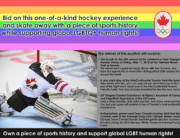 Bid on Hockey History Pride House Auction