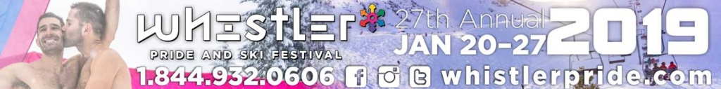 Join us for Whistler Pride Jan. 20-27, 2019 Gay Ski Week