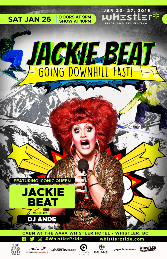Jackie Beat Going Downhill at Whistler Pride
